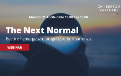 "Webinar ""The Next Normal – Gestire l'emergenza e progettare la ripartenza"""